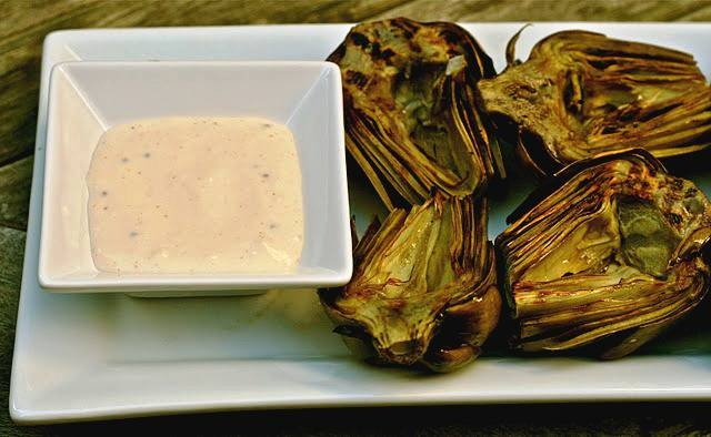Grilled Artichokes with Easy Lemon Garlic Aioli