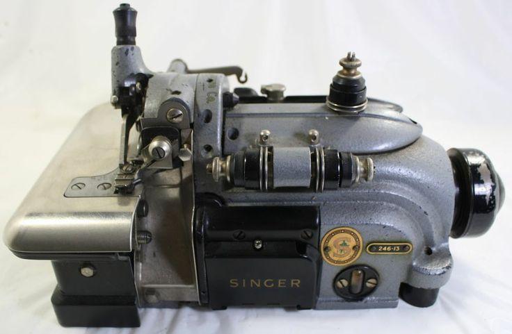 1959 singer industrial sewing machine edger overlock serger 246 13 ni. Black Bedroom Furniture Sets. Home Design Ideas