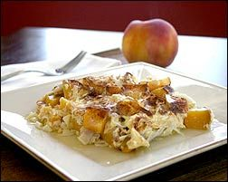 peach and cottage cheese cinnamon kugel | Holiday Traditions | Pinter ...