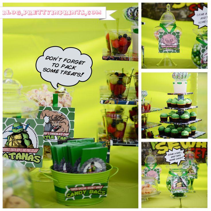 Ninja Turtles Birthday Party - #kidsparty #partyideas