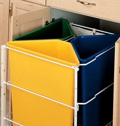 Recycle Bins Home Organization Pinterest