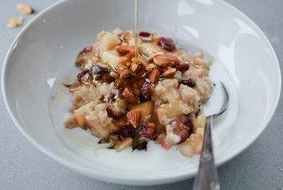 Apple-Cherry Steel-Cut Oats | Breakfast | Pinterest