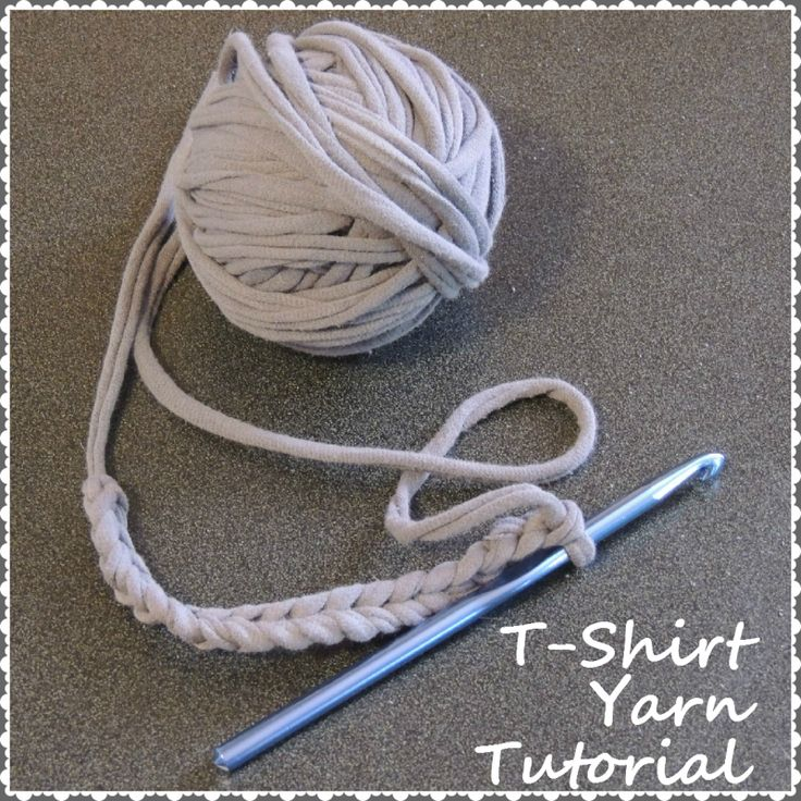 Full photo tutorial on how to make t-shirt yarn.