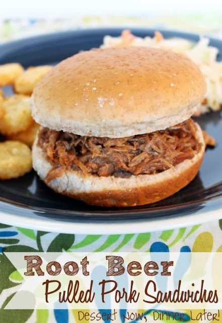... Sandwiches - tender, slow-cooked pork with a saucy root beer & BBQ