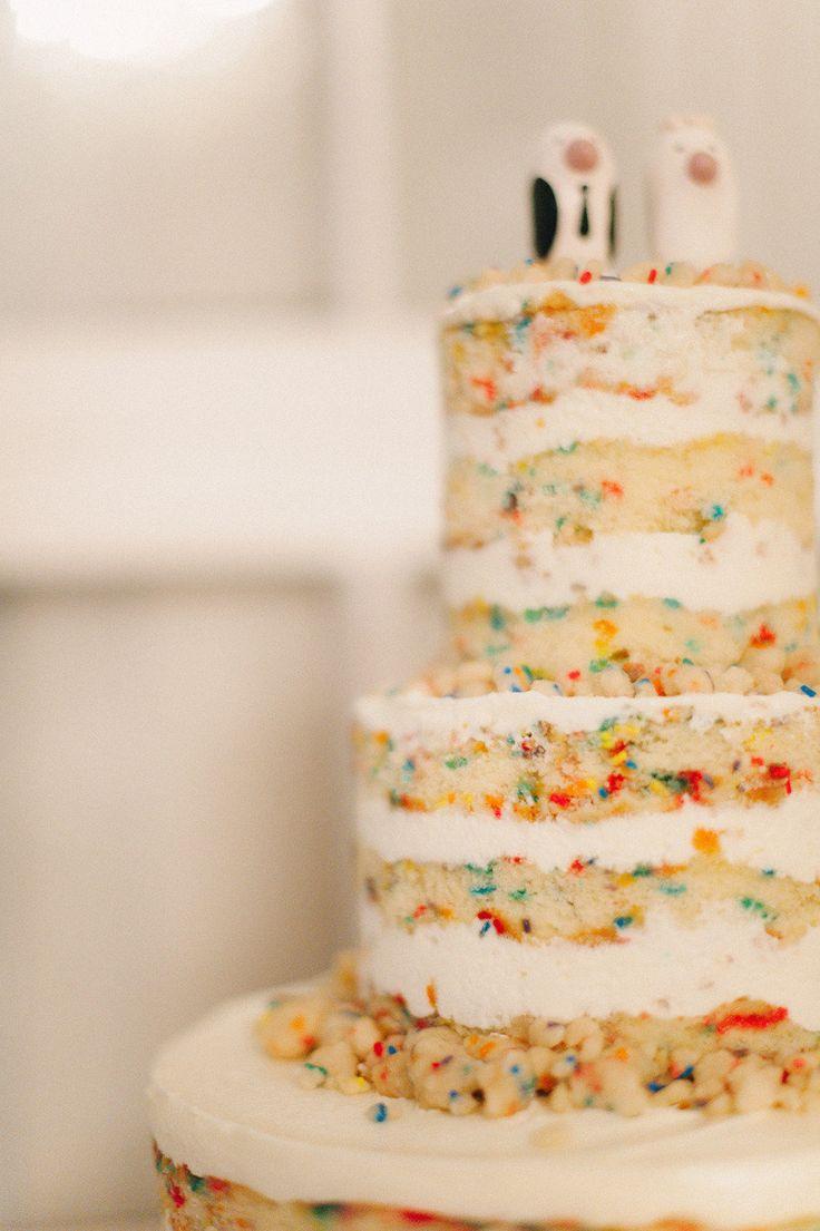 Confetti Wedding Cake Yes Please