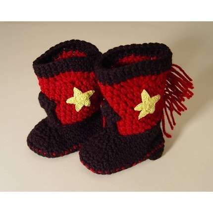 Knitting Pattern Baby Cowboy Booties : Coolest baby boots ever Would love to make! Pinterest
