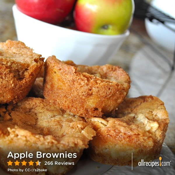 "Apple Brownies | ""This was fantastic, the crust is definitely like a ..."