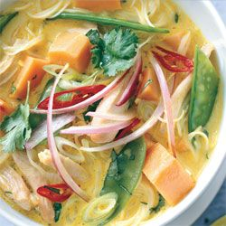 Spicy Curry Noodle Soup with Chicken and Sweet Potato | Recipe