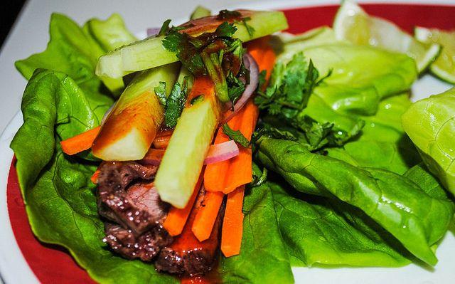 Thai Basil Turkey Lettuce Wraps Recipe — Dishmaps