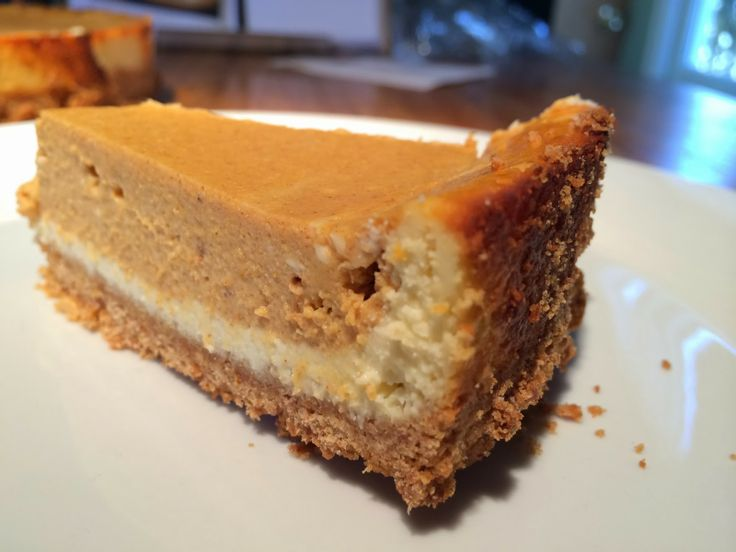 Double Layer Pumpkin Cheesecake!! | unhealthy foods | Pinterest