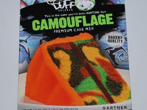 Camo Cake Mix Duff