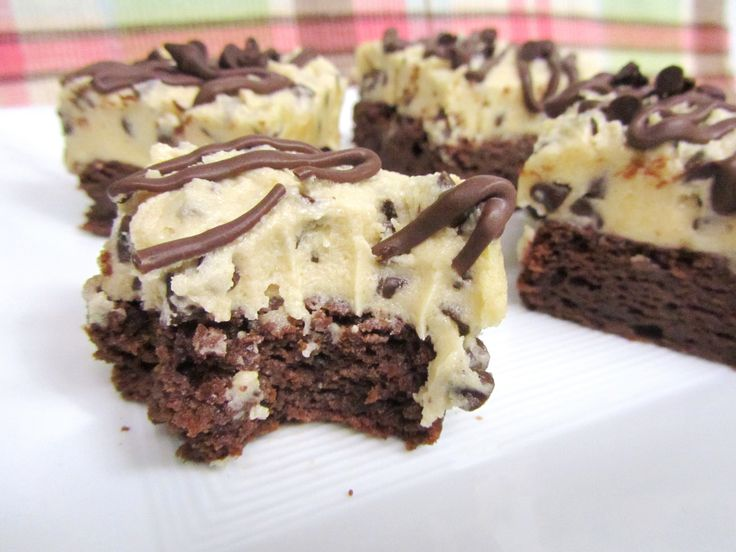 Chocolate Chip Cookie Dough Brownies 2 | Recipes | Pinterest