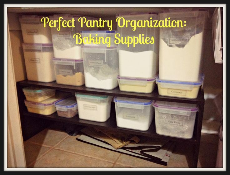 Perfect pantry organization baking supplies with free labels for Perfect kitchen organization