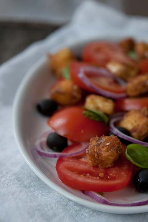 tomato salad with feta cheese | foods | Pinterest