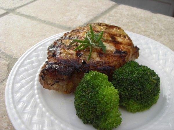 Dijon Grilled Pork Chops in Balsamic & Rosemary Marinade