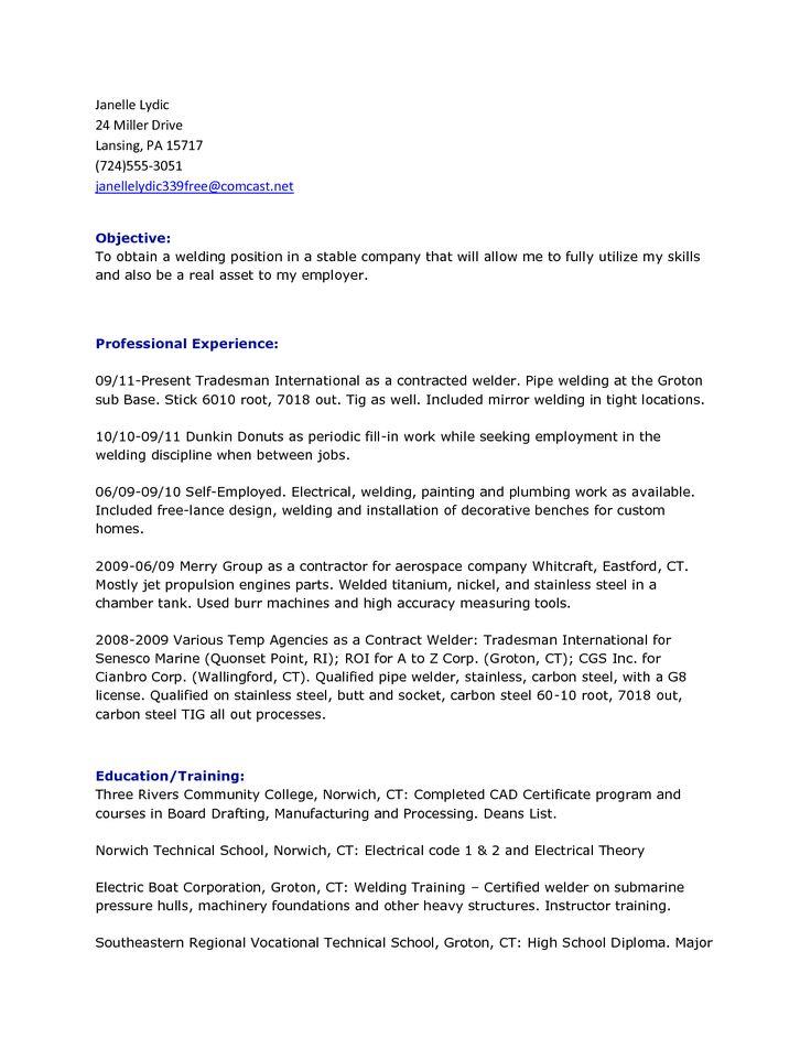 Aluminum Tig Welder Sample Resume | officesetupcom.us