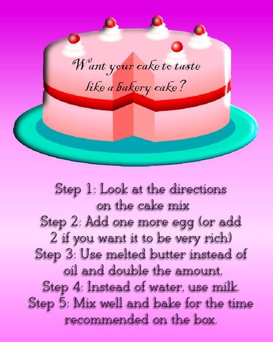 Make Box Cake Taste Like Bakery Cake
