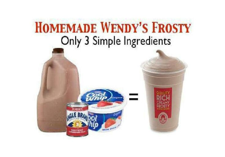 Homemade Wendy's Chocolate Frosty Recipe — Dishmaps
