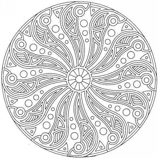 mandalas | pin mandalas complexe coloriage picture to pinterest