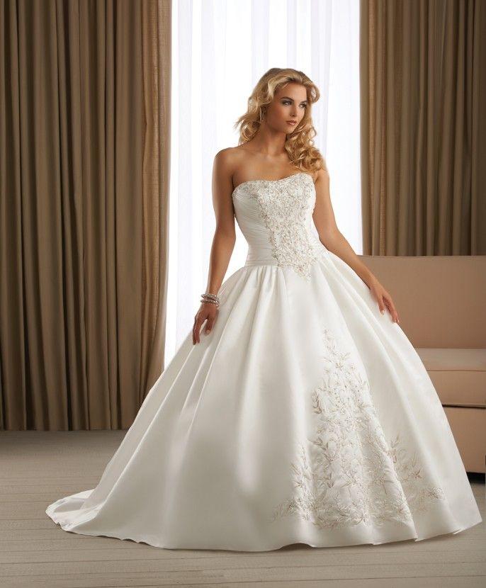 Fairytale ball gown wedding dresses we love pinterest for Fairytale ball gown wedding dresses