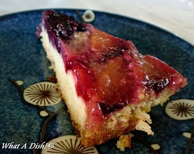 Plum-Blueberry Upside Down Cake | Yummy desserts!!! | Pinterest