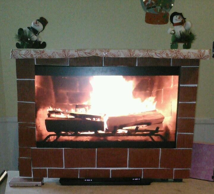 cardboard fireplace cardboard boxes