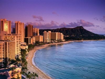 Waikiki Beach and Diamond Head - Honolulu, Hawaii