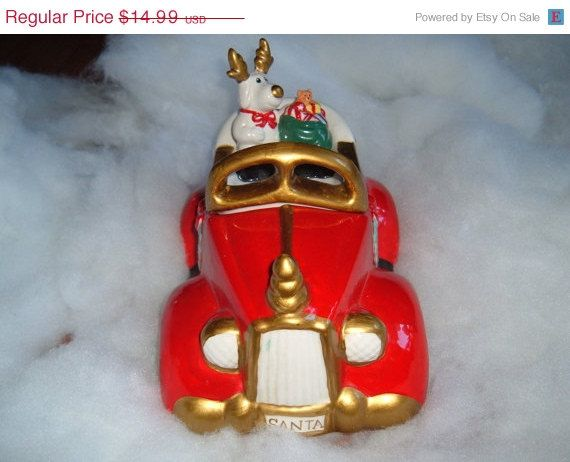 Early christmas sale ceramic christmas santa car cookie for Christmas decs sale