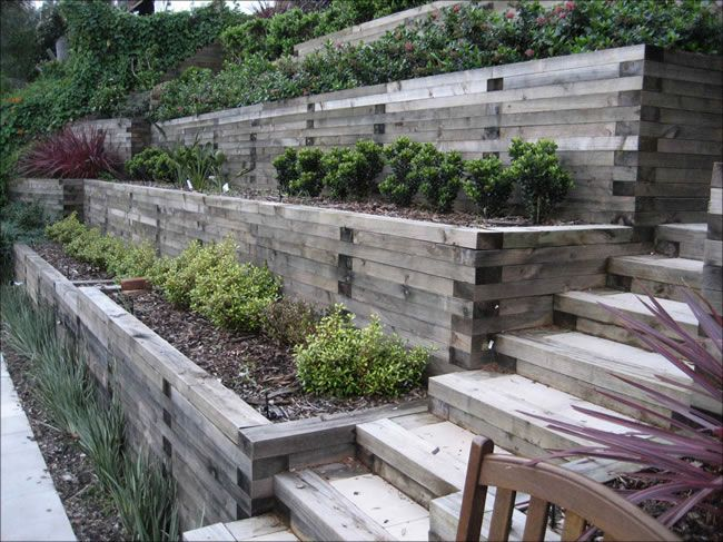 Terracing Ideas For A Sloping Backyard : Pin by Marnie Harker on Garden Inspiration  Pinterest