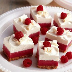 Frozen White Chocolate Raspberry Mousse Bars | Recipe