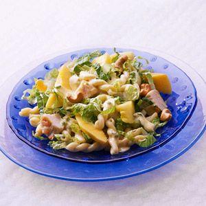 Curried Chicken & Pasta Salad. This hearty chicken-pasta dinner salad ...