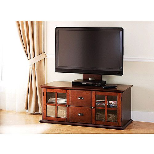 Better homes and gardens cherry finish flat panel tv mount console for tvs up to 50 219 Home garden television
