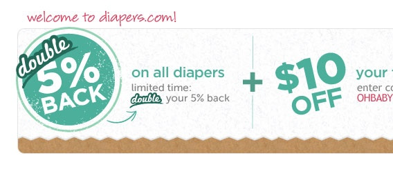 Diapers.com coupon 2nd order