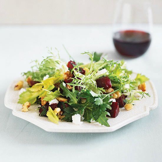 Balsamic Roasted Beet Salad Recipe | Made with Spinach and Walnuts ...