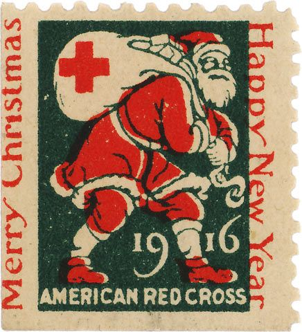 American Red Cross - Christmas 1916 - postage stamp