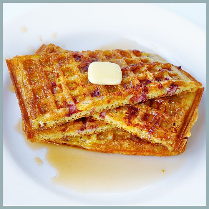 Ham & Cheese Waffles - The Parsley Thief | Breakfast | Pinterest