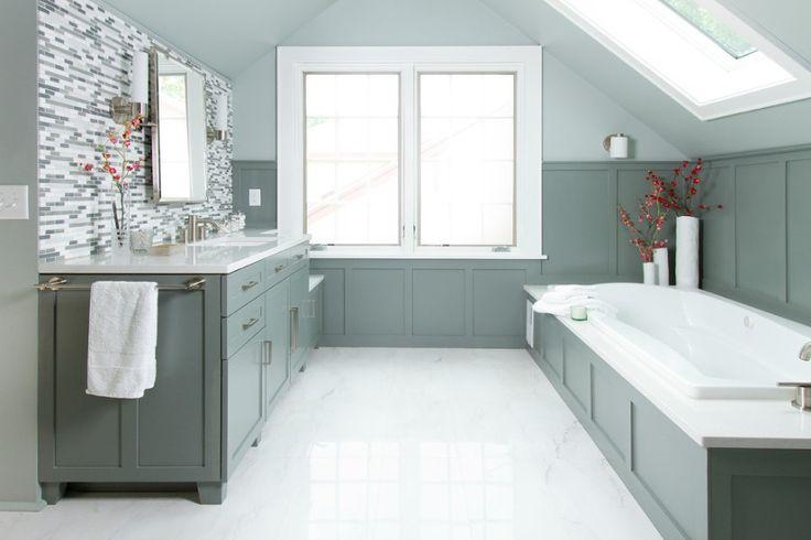 Bathroom suite ideas - Spa Blue Master Bath