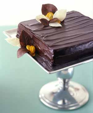 Double Chocolate-Orange Torte For chocolate lovers, a dessert buffet ...