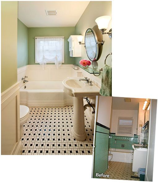 1930 39 s inspired bathroom bathroom pinterest for 1930 s bathroom decor