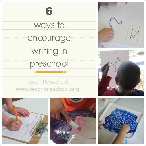 6 ways to encourage writing in preschool