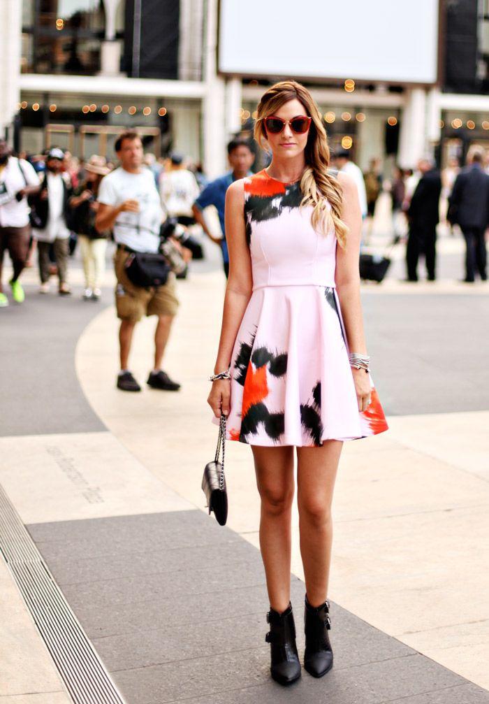 MSGM, MSGM Pink Neoprene Dress, Miu Miu Sunglasses, Glitter Infused Sunglasses, Red Sunglasses, Street Style, NYFW, What to wear to NYFW, Fa...
