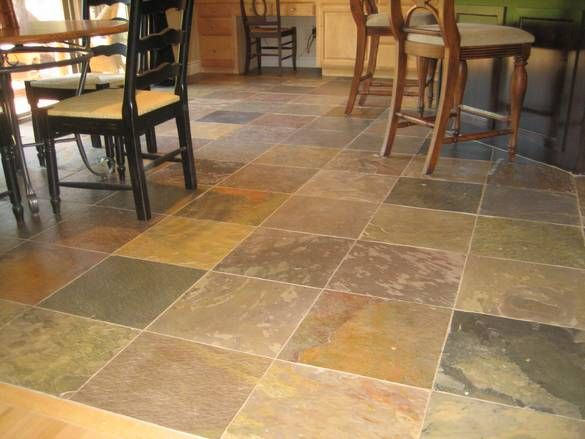 slate kitchen flooring ideas  For the Home  Pinterest