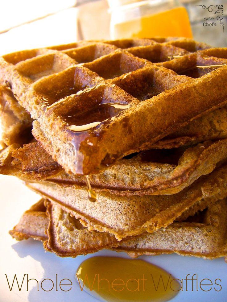 Whole Wheat Waffles on MyRecipeMagic.com | yummy | Pinterest