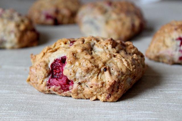 Raspberry scones- Whole wheat   Sweet Makeovers   Pinterest