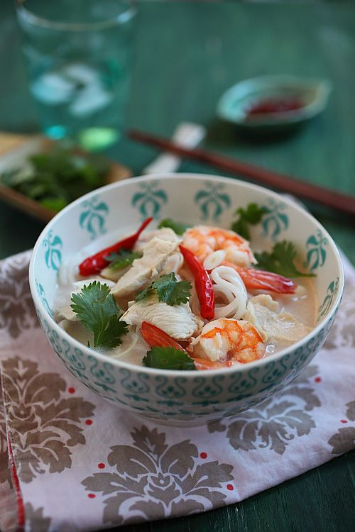 Coconut Lime Noodle Soup-- Georgette, this is an awesome website full ...
