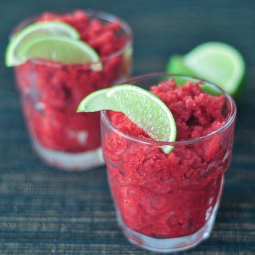 sparkly spiked cran raspberry granita | food | Pinterest