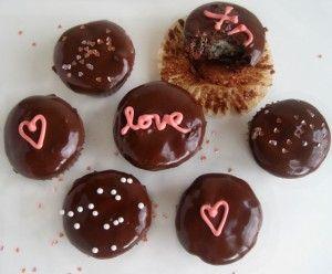How Pretty and Delish - Chocolate Truffle Brownie Bites; Hello Giggles