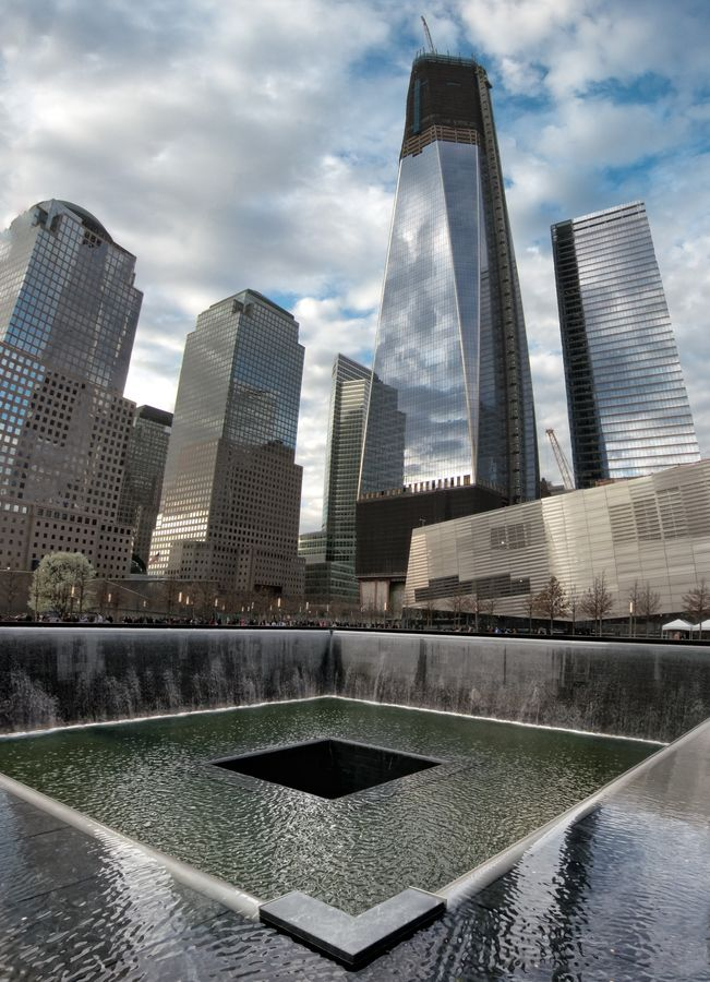 1 WTC, 9/11 Memorial, was there this afternoon, beautiful and moving