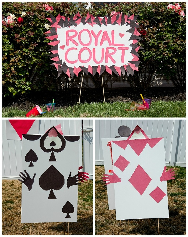 Alice in wonderland decorations diy party decorations for Alice in wonderland birthday decoration ideas