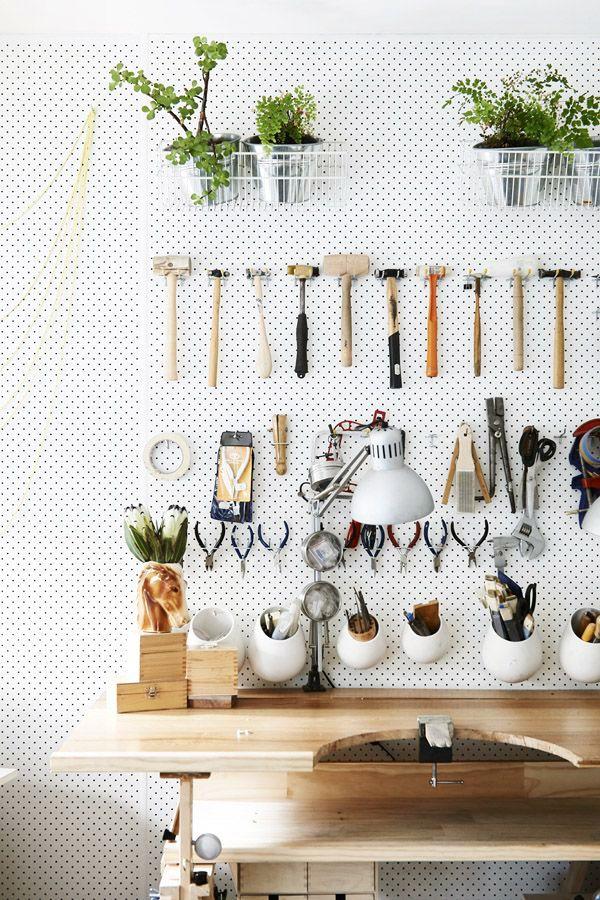 Organized tools.